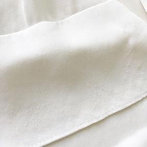 BCBGMaxAzria Tops - BCBG White Ruffle Tiered Blouse